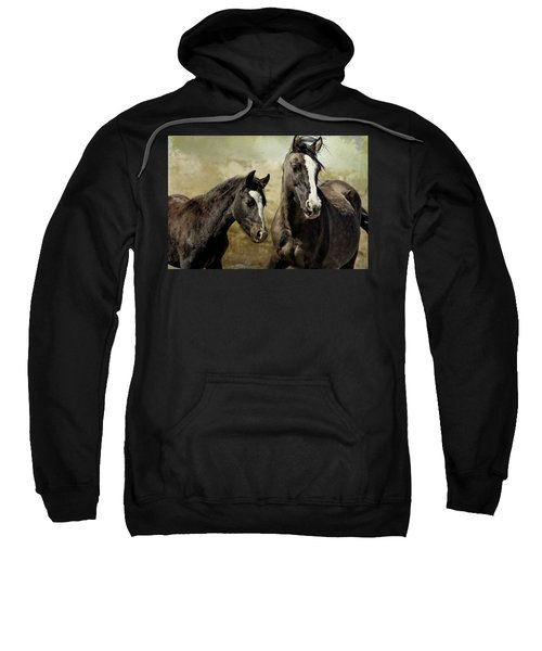 Feldspar And Ohanzee  - Pryor Mustangs Sweatshirt