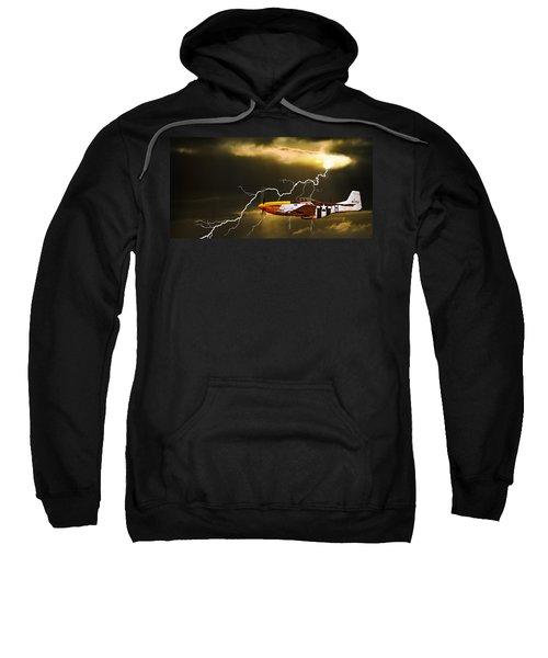 Ferocious Frankie In A Storm Sweatshirt
