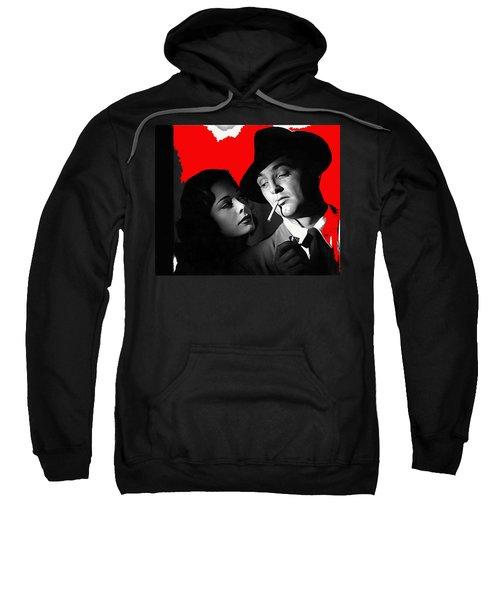 Film Noir Jane Greer Robert Mitchum Out Of The Past 1947 Rko Color Added 2012 Sweatshirt