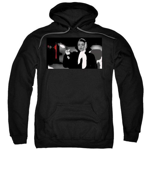 Film Noir Joan Crawford Jack Palance Sudden Fear 1952 Rko Publicity Photo Color Added 2012 Sweatshirt