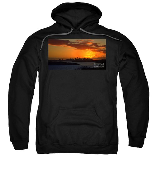 Sweatshirt featuring the photograph Fire In The Sky by Miroslava Jurcik