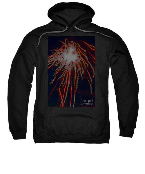 Sweatshirt featuring the photograph Fire Works by Mae Wertz