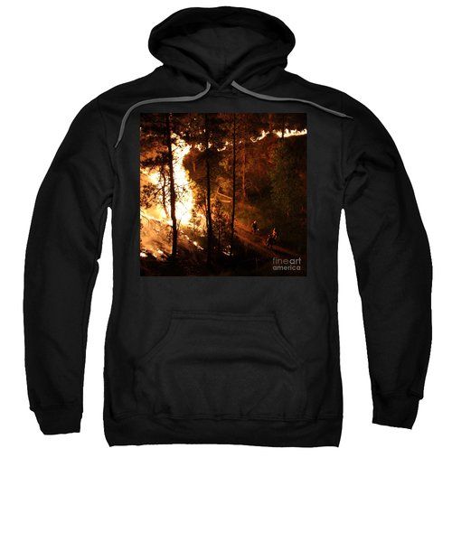 Firefighters Burn Out On The White Draw Fire Sweatshirt