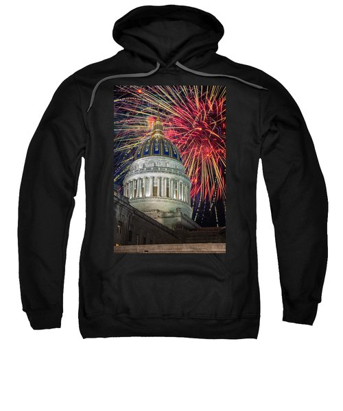 Fireworks At Wv Capitol Sweatshirt