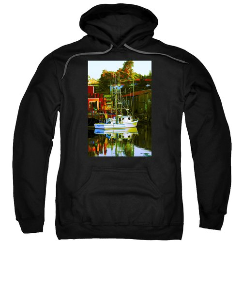Fish'n Boat At Harbor Sweatshirt
