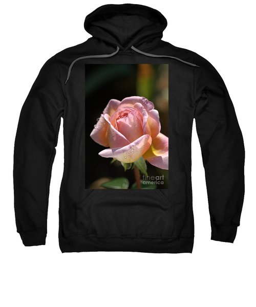 Flower-pink And Yellow Rose-bud Sweatshirt