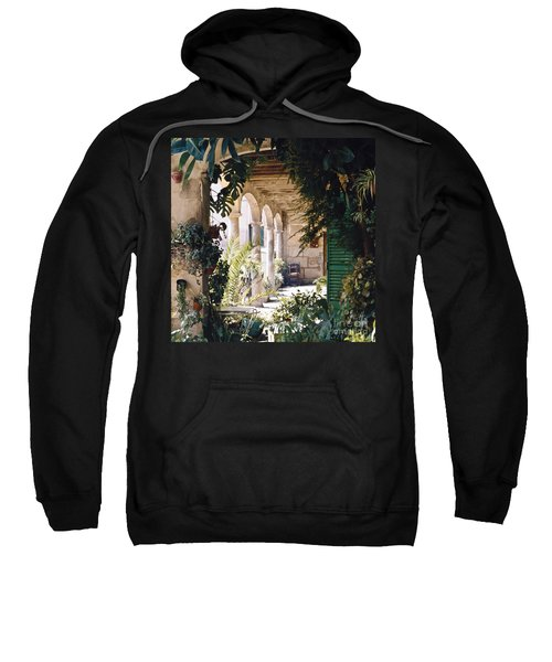 Flowery Majorquin  Patio In Valdemosa Sweatshirt