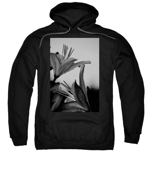For The Love Of Lillies Bw Sweatshirt