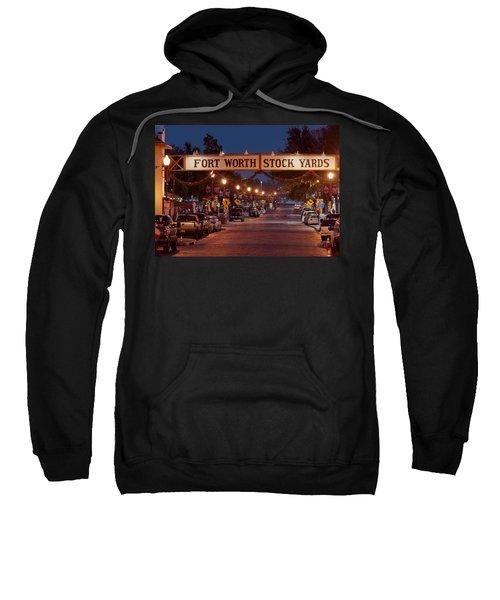 Fort Worth Stock Yards Night Sweatshirt