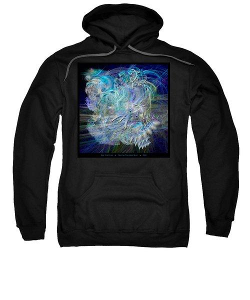 Fractal Feathers Blue Sweatshirt