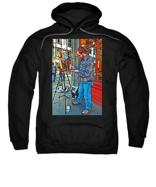 French Quarter Artist Painted Sweatshirt