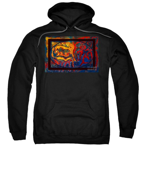 Friendship And Love Abstract Healing Art Sweatshirt