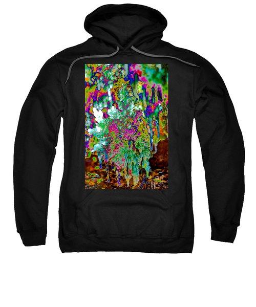 Sweatshirt featuring the digital art Frozen Juniper by Mae Wertz