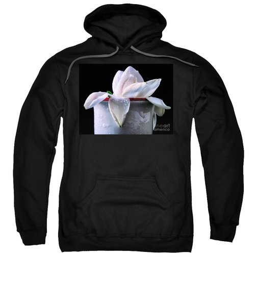 Sweatshirt featuring the photograph Gardenia In Coffee Cup by Silvia Ganora