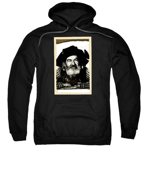 George Hayes Portrait #1 Card Sweatshirt by David Lee Guss