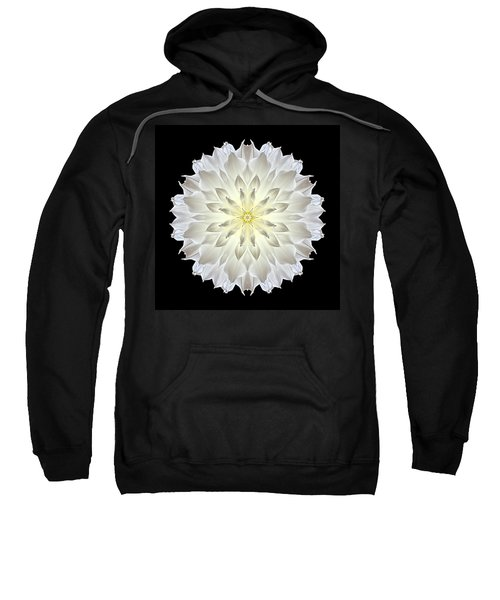 Giant White Dahlia Flower Mandala Sweatshirt
