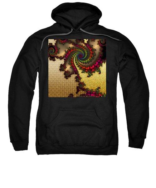 Gilded Fractal 10  Sweatshirt