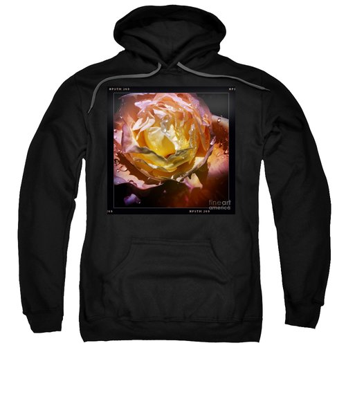 Sweatshirt featuring the photograph Glistening Rose by Denise Railey
