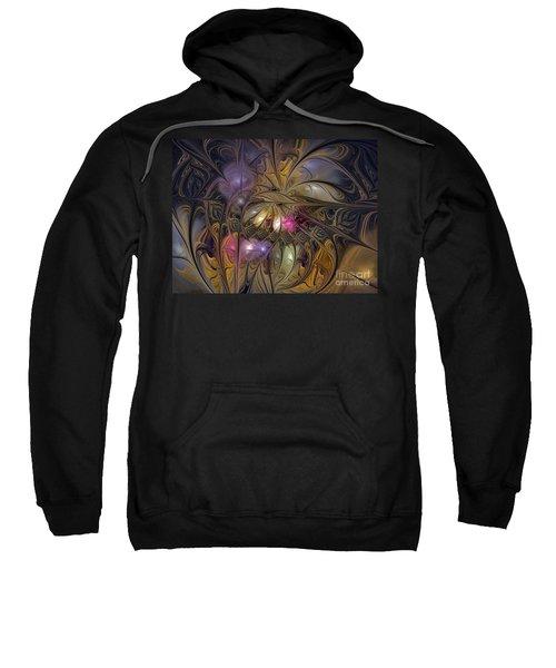 Golden Ornamentations-fractal Design Sweatshirt