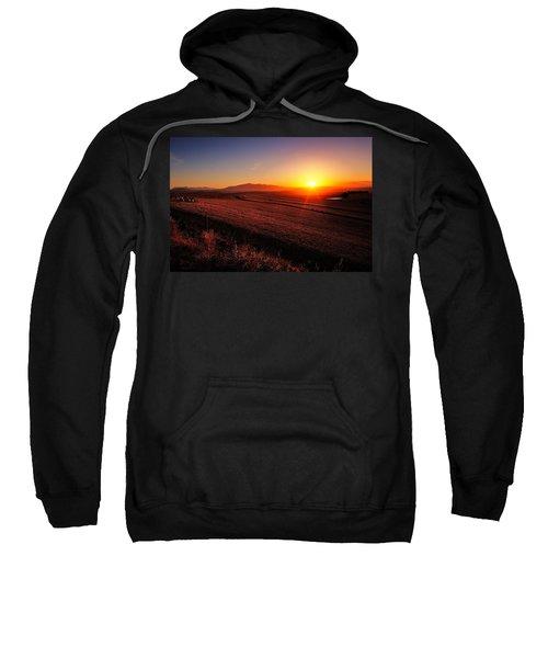 Golden Sunrise Over Farmland Sweatshirt