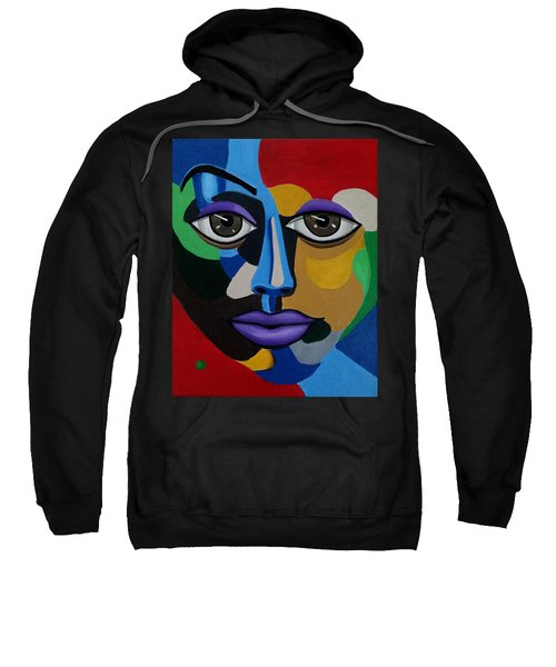 Abstract Face Art Abstract Painting Eye Art Sweatshirt