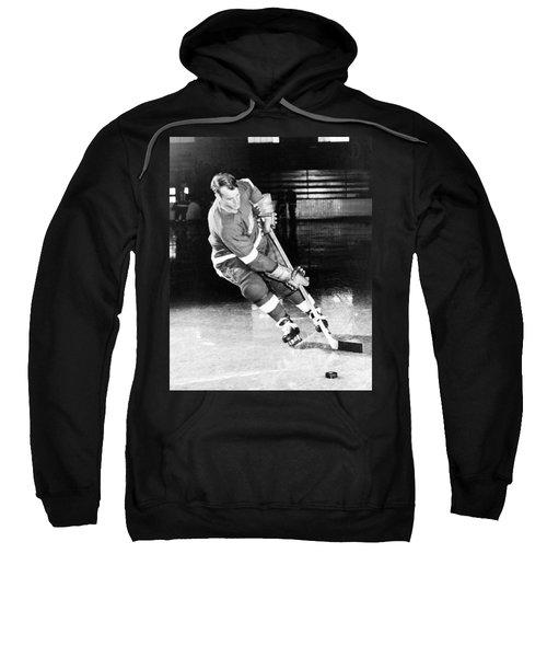 Gordie Howe Skating With The Puck Sweatshirt