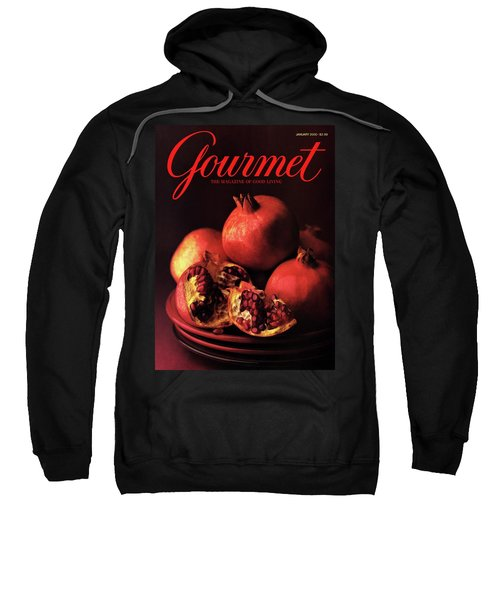Gourmet Cover Featuring A Plate Of Pomegranates Sweatshirt