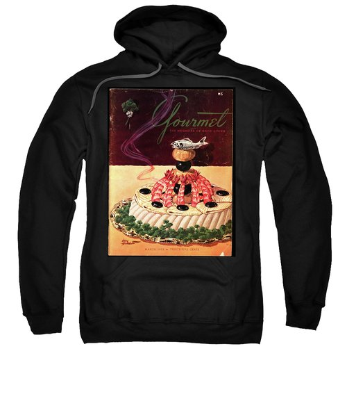 Gourmet Cover Illustration Of A Filet Of Sole Sweatshirt