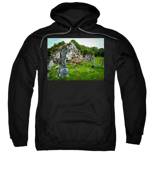 Sweatshirt featuring the photograph Graveyard And Church Ruins On Ireland's Mizen Peninsula by James Truett