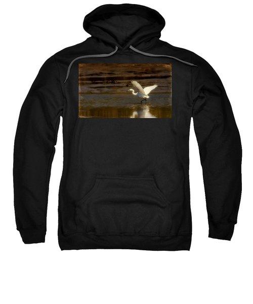 Great Egret Taking Off Sweatshirt