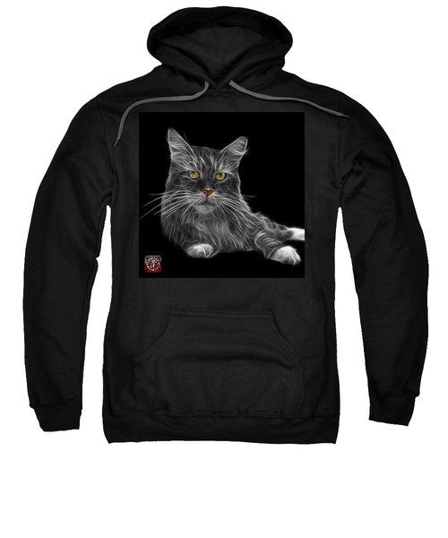Greyscale Maine Coon Cat - 3926 - Bb Sweatshirt