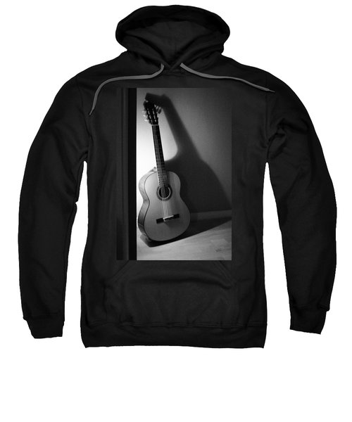 Guitar Still Life In Black And White Sweatshirt