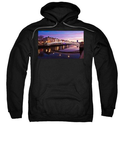 Hapenny Bridge At Dawn - Dublin Sweatshirt