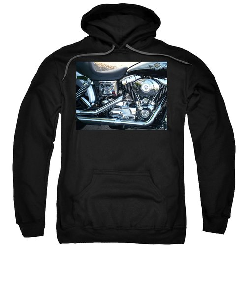Harley Black And Silver Sideview Sweatshirt