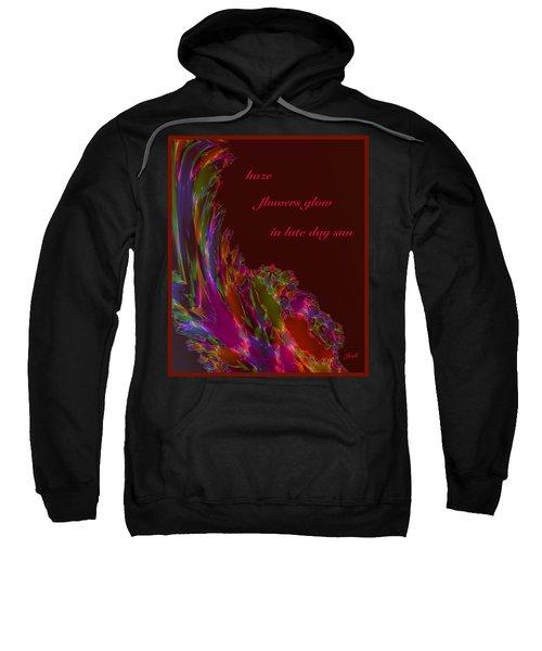Sweatshirt featuring the digital art Haze Haiga by Judi Suni Hall