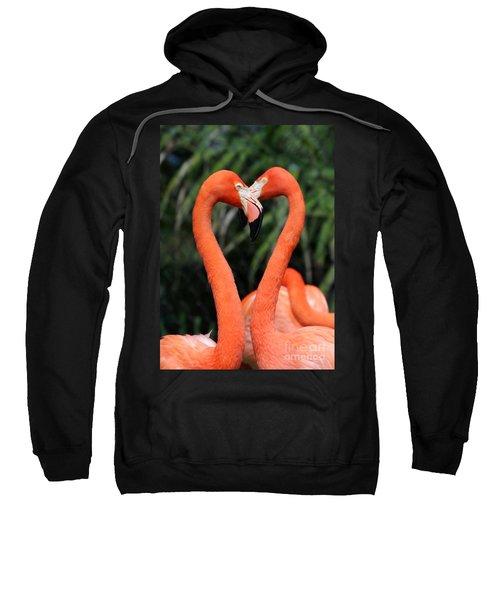 Heart To Heart Flamingo's Sweatshirt