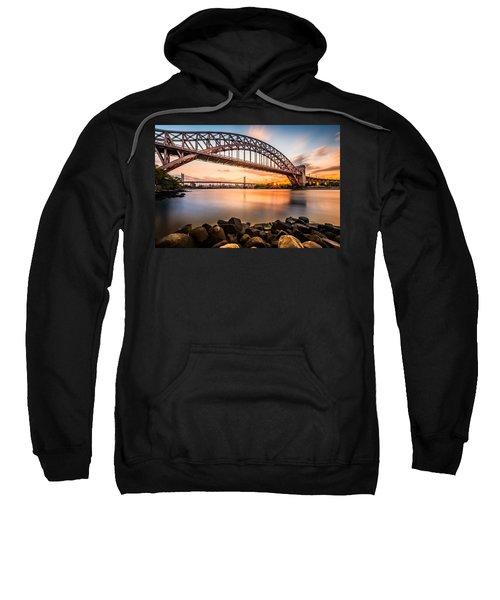 Hell Gate And Triboro Bridge At Sunset Sweatshirt