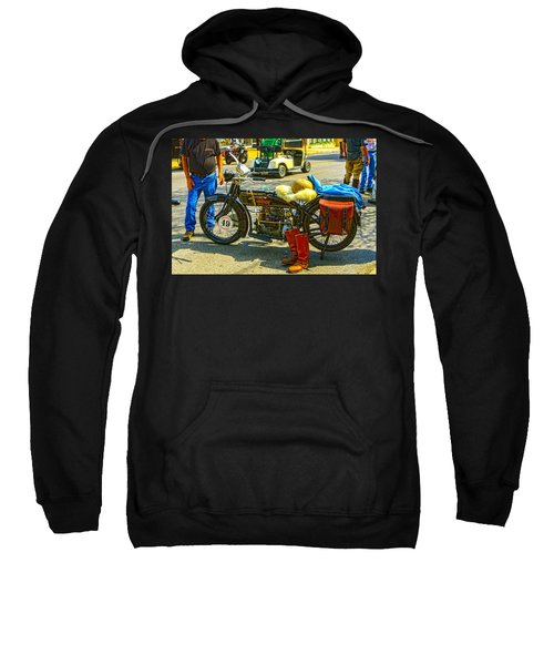Henderson At Cannonball Motorcycle Sweatshirt