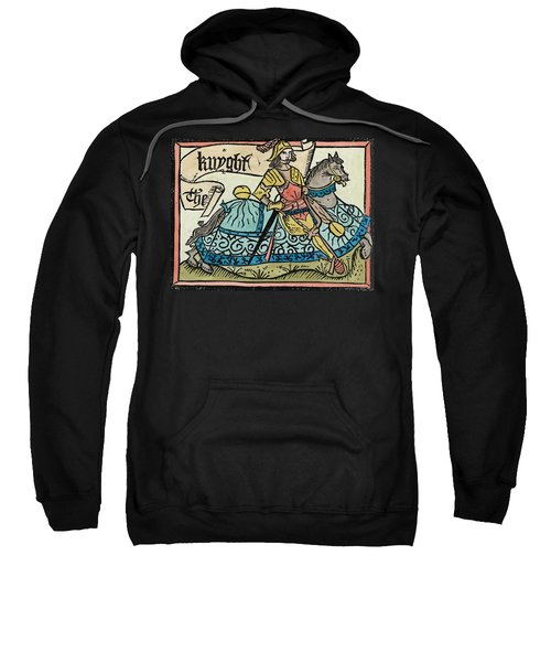 Here Begynneth The Knightes Tale, Illustration From The Canterbury Tales By Geoffrey Chaucer Sweatshirt