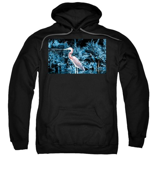 Heron In Blue Sweatshirt
