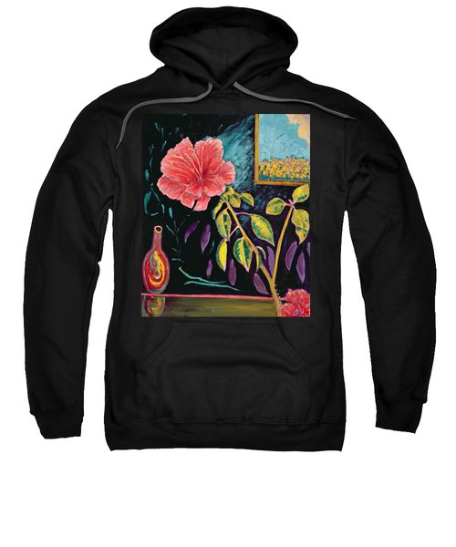 Hibiscus With Vase Sweatshirt