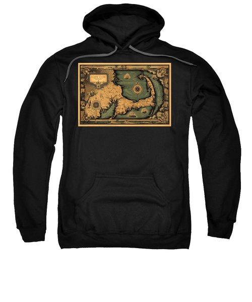 Historical Map Of Cape Cod Sweatshirt