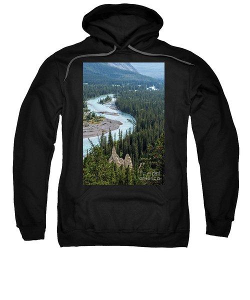 Hoodoos Along The Bow River Banff Sweatshirt