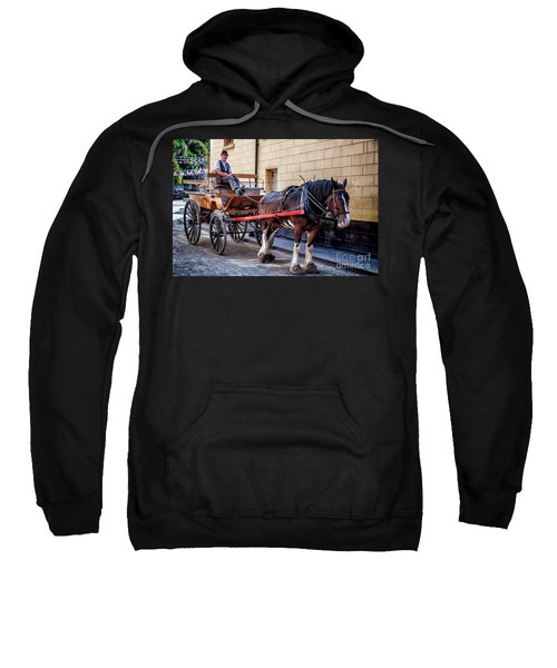 Horse And Cart Sweatshirt by Adrian Evans