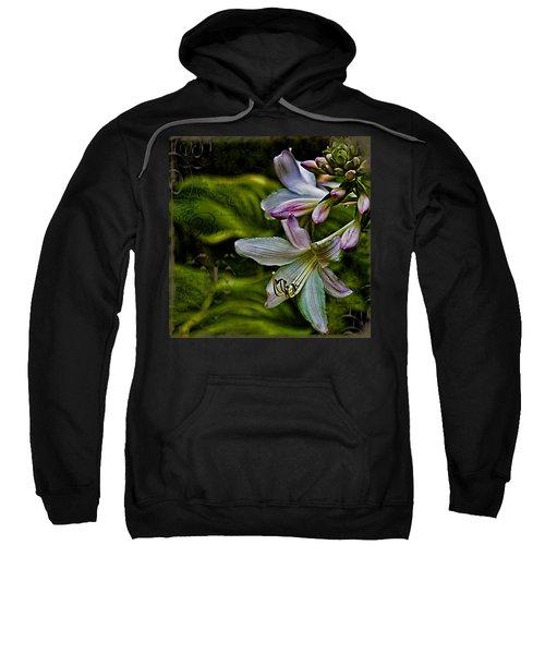 Hosta Lilies With Texture Sweatshirt