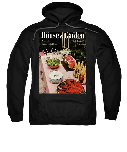 House And Garden Cover Featuring A Buffet Table Sweatshirt