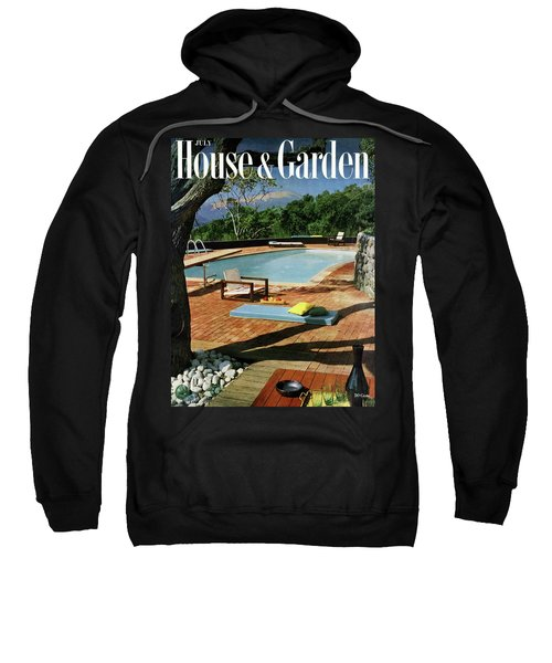 House And Garden Cover Featuring A Terrace Sweatshirt