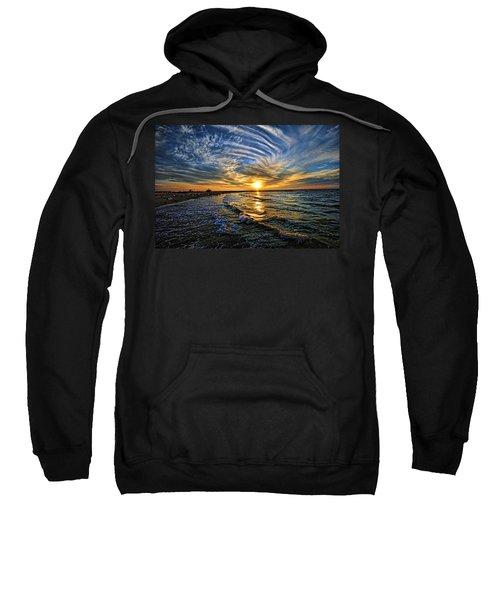 Hypnotic Sunset At Israel Sweatshirt