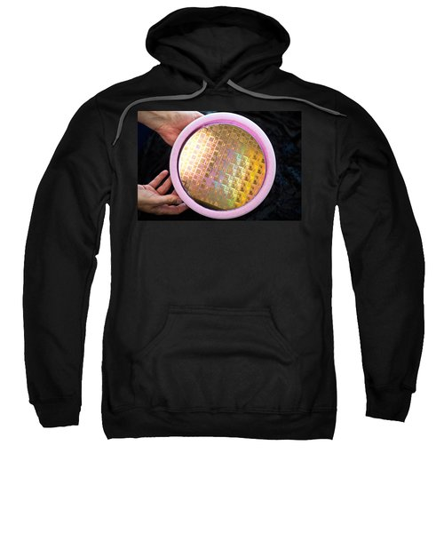 Integrated Circuits On Silicon Wafer Sweatshirt