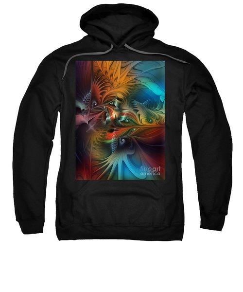 Intricate Life Paths-abstract Art Sweatshirt
